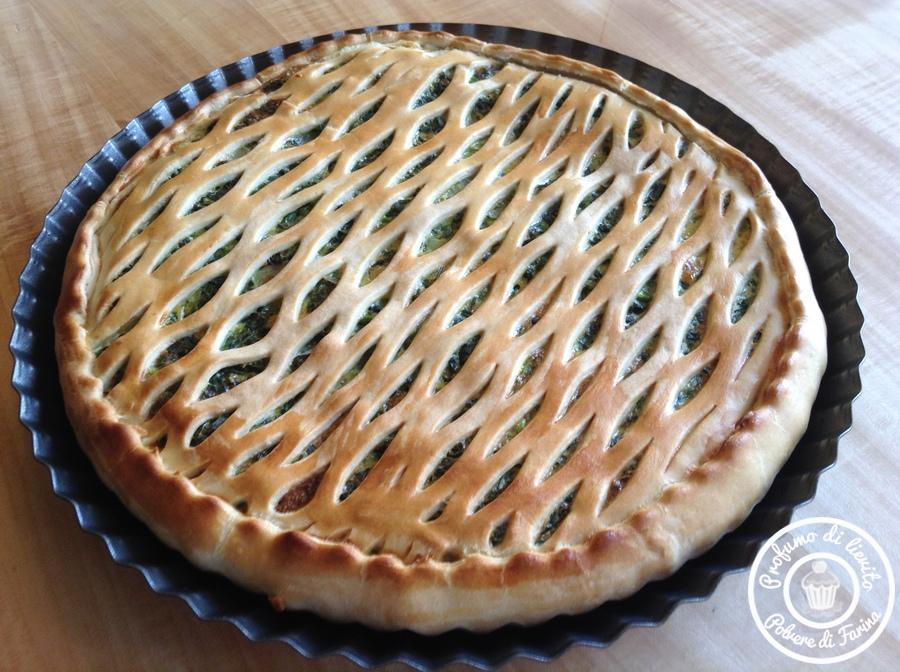 Pasta brisé con spinaci e patate